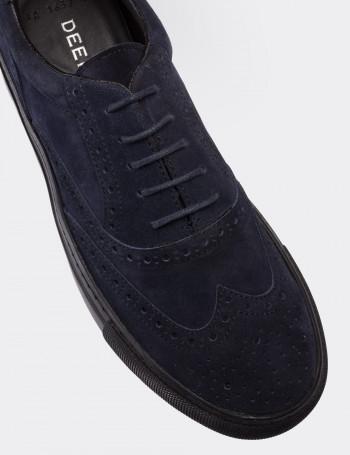 Hakiki Süet Lacivert Erkek Sneaker