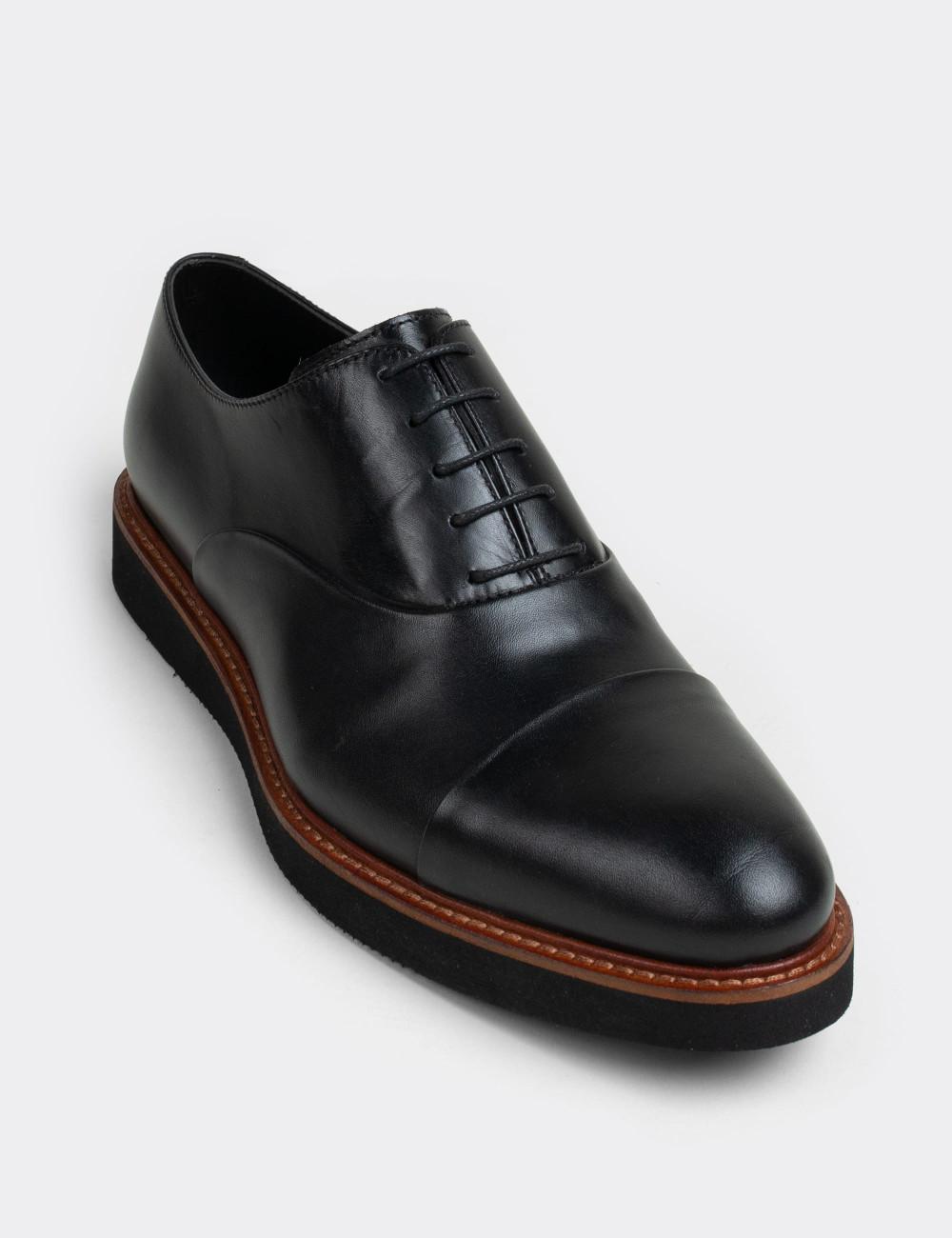 Hakiki Deri Siyah Casual Erkek Ayakkabı - 01026MSYHE04