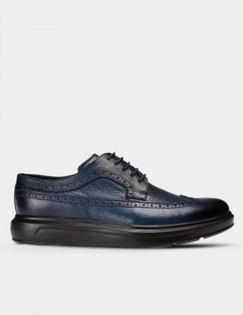 Hakiki Deri Mavi Comfort Günlük Erkek Ayakkabı