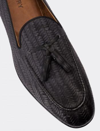 Hakiki Nubuk Gri Erkek Loafer
