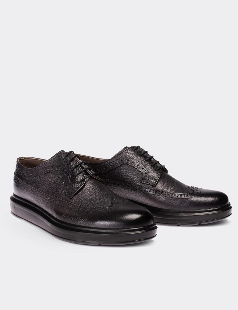 Hakiki Deri Gri Comfort Günlük Erkek Ayakkabı - 01293MGRIP03