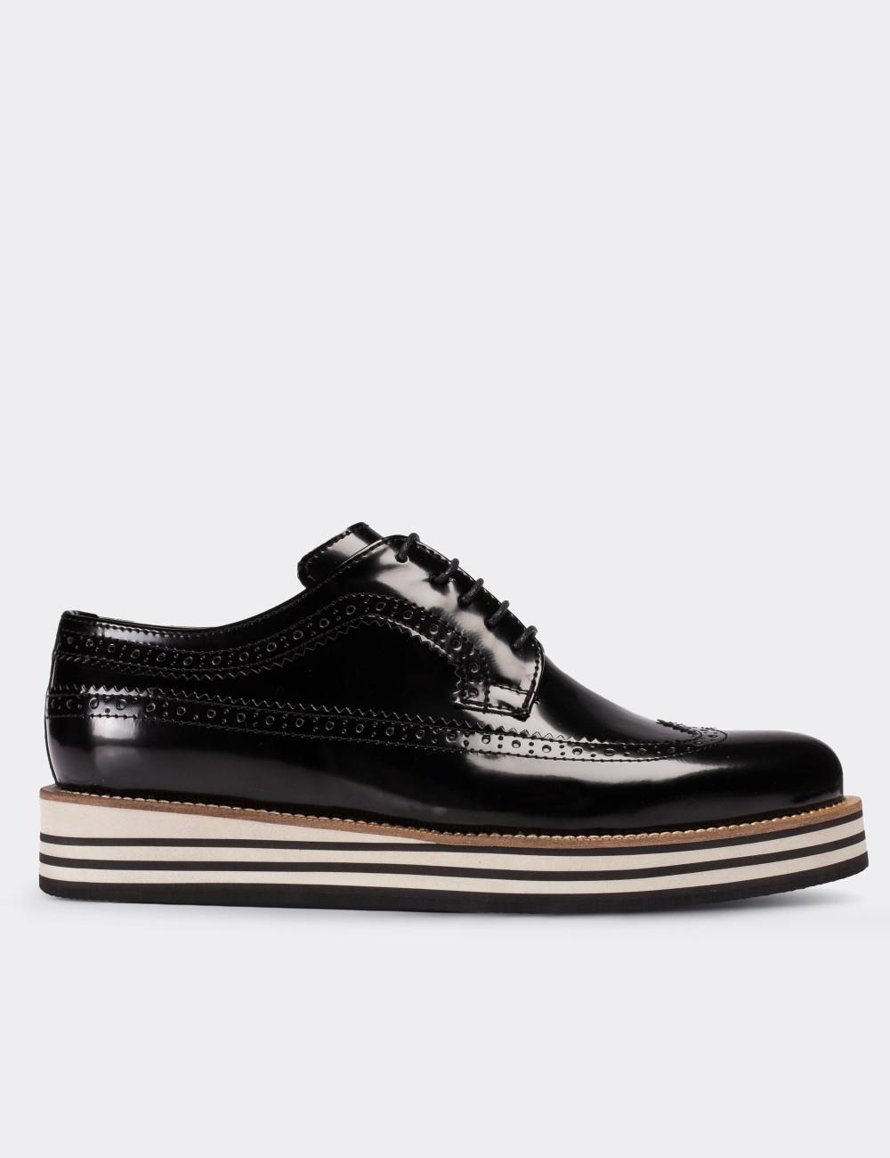 Siyah Günlük Erkek Ayakkabı - 01293MSYHE34