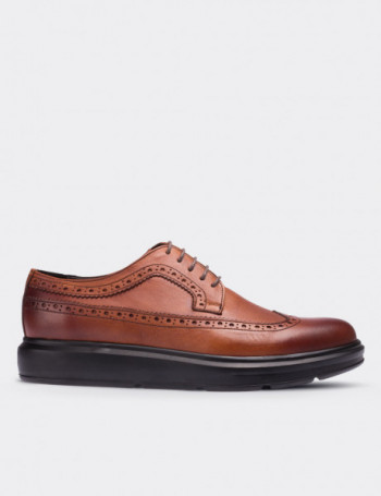 Hakiki Deri Taba Rengi Comfort Erkek Ayakkabı