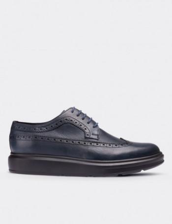Hakiki Deri Lacivert Comfort Erkek Ayakkabı