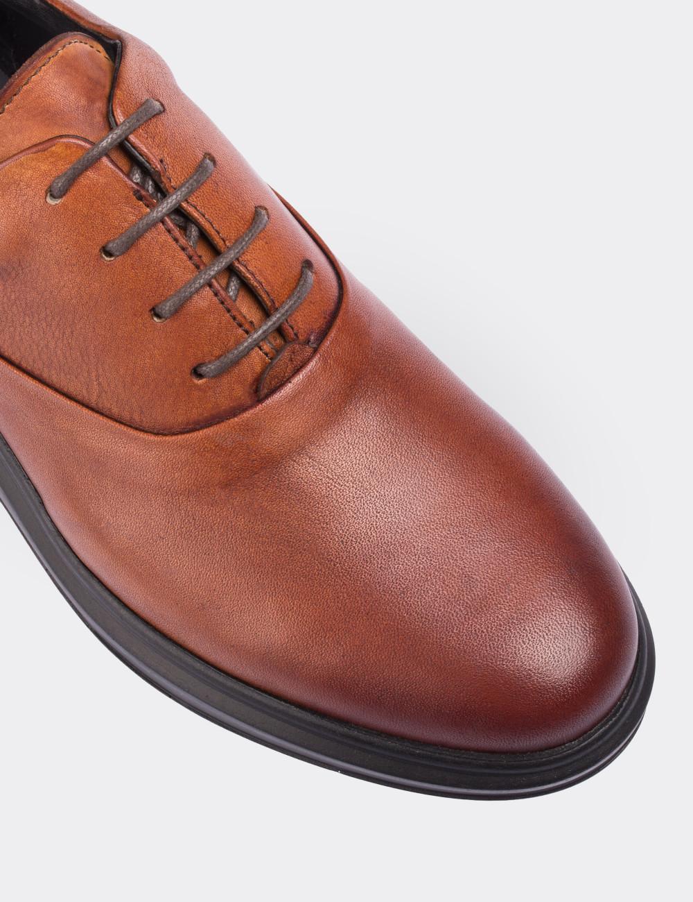 Hakiki Deri Taba Rengi Comfort Erkek Ayakkabı - 01652MTBAP01