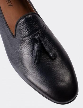 Hakiki Deri Lacivert Erkek Loafer