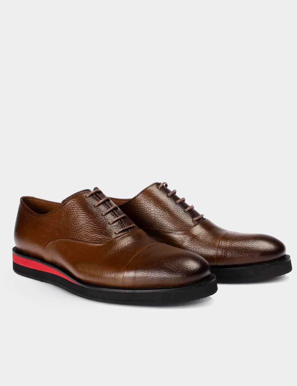 Hakiki Deri Kahverengi Günlük Erkek Ayakkabı - 01026MKHVE02