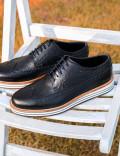 Hakiki Deri Koyu Lacivert Günlük Erkek Ayakkabı