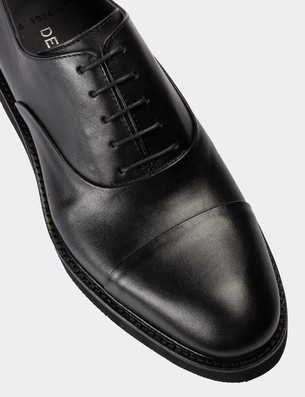 Hakiki Deri Siyah Günlük Erkek Ayakkabı - 01026MSYHE12