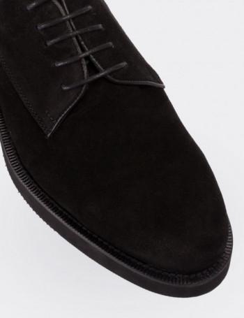 Hakiki Deri Siyah Süet Erkek Ayakkabı