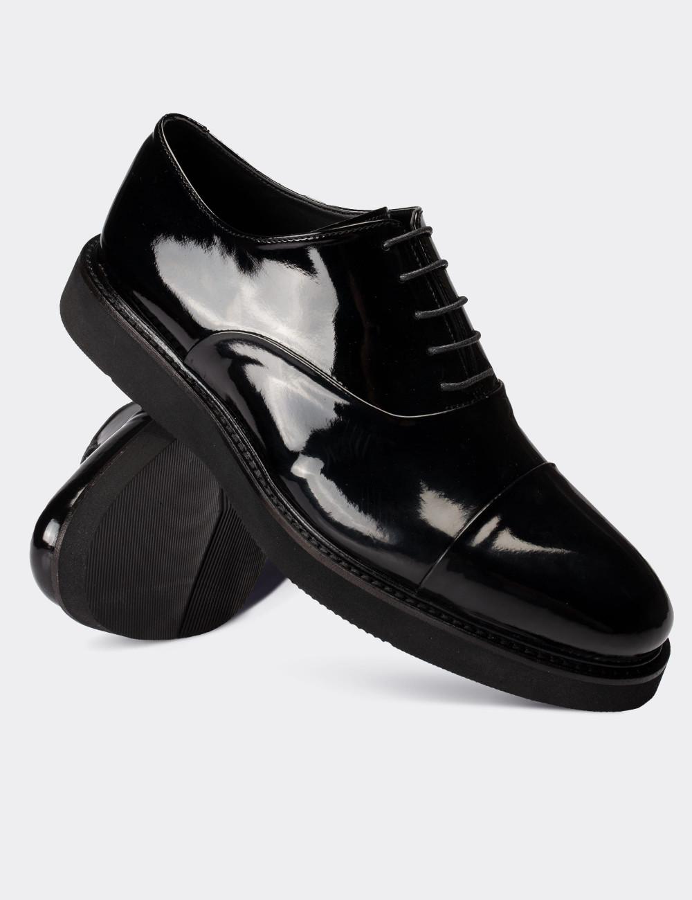Siyah Rugan Günlük Erkek Ayakkabı - 01026MSYHE13