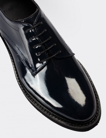 Lacivert Rugan Günlük Kadın Ayakkabı