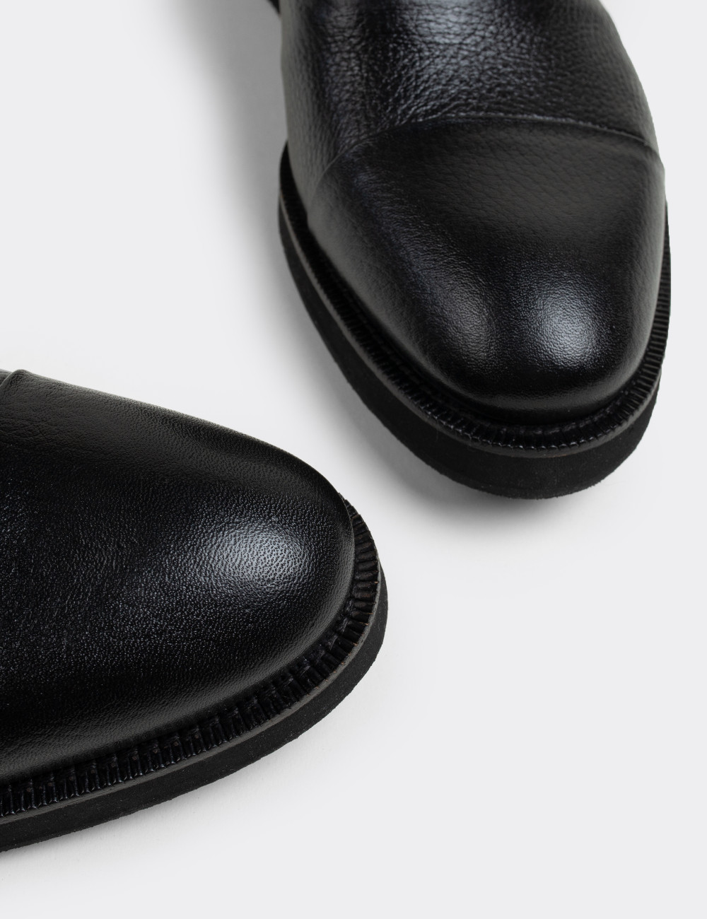 Hakiki Deri Siyah Günlük Erkek Ayakkabı - 01026MSYHE11