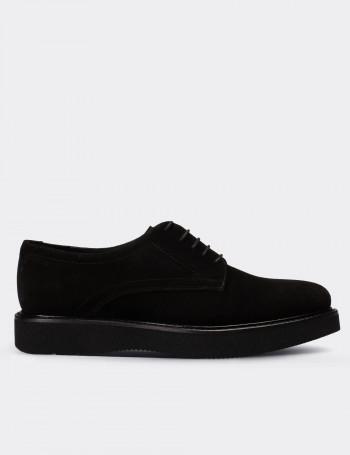 Hakiki Süet Siyah Günlük Kadın Ayakkabı
