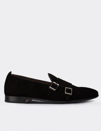 Hakiki Süet Siyah Erkek Loafer