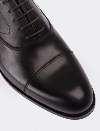 Hakiki Deri Siyah Kösele Klasik Erkek Ayakkabı