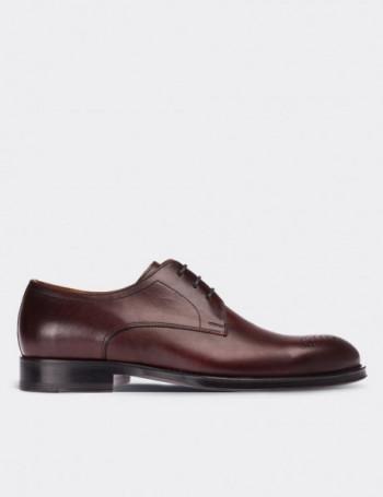 Hakiki Deri Bordo Kösele Klasik Erkek Ayakkabı
