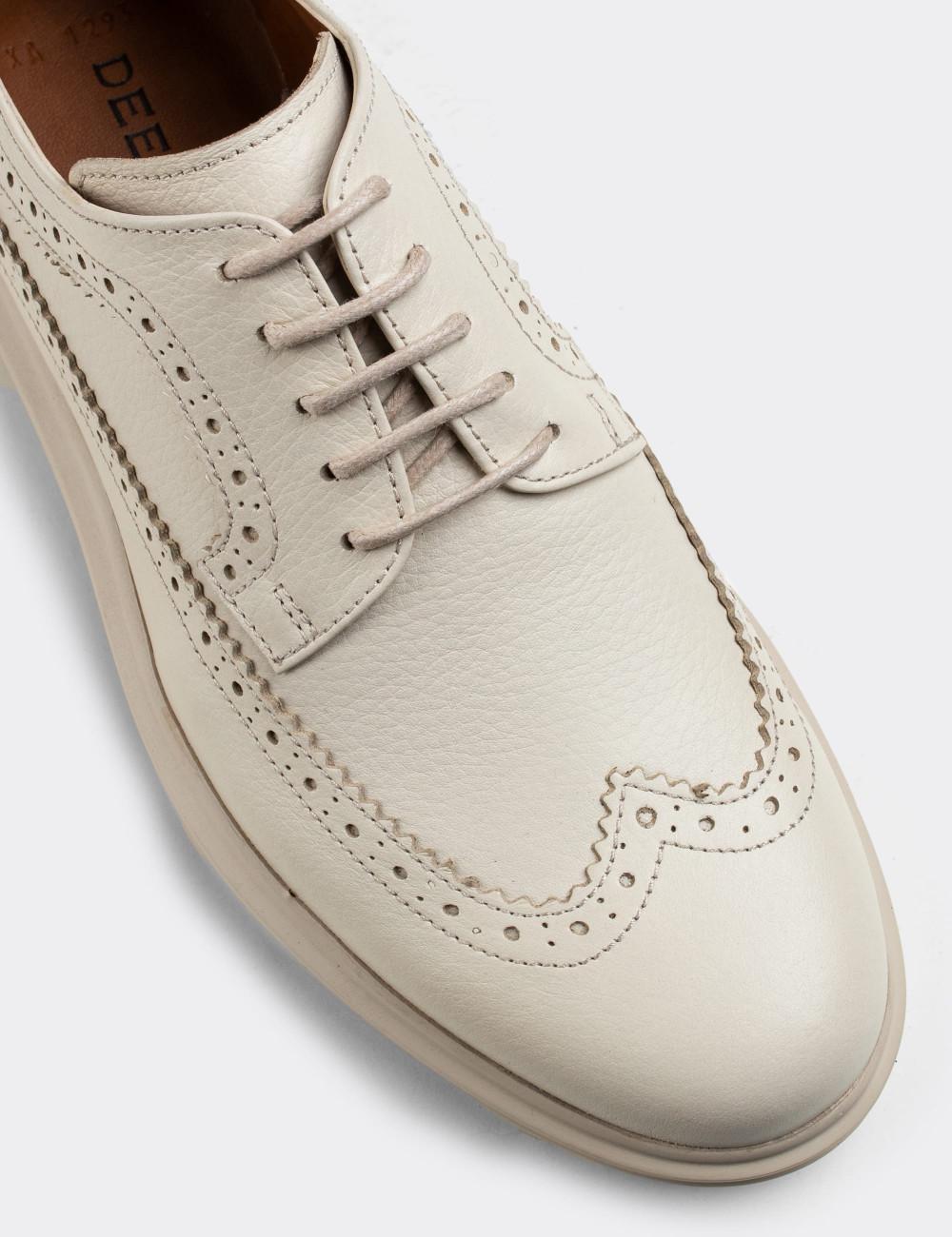 Hakiki Deri Bej Comfort Günlük Erkek Ayakkabı - 01293MBEJP01