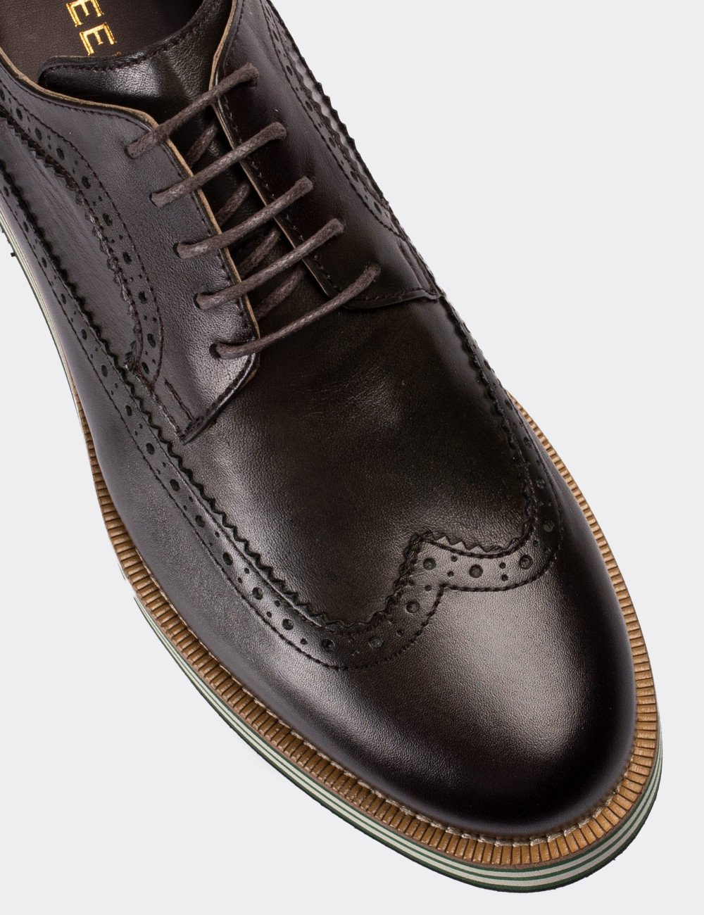 Hakiki Deri Kahverengi Günlük Erkek Ayakkabı - 01293MHAKE01