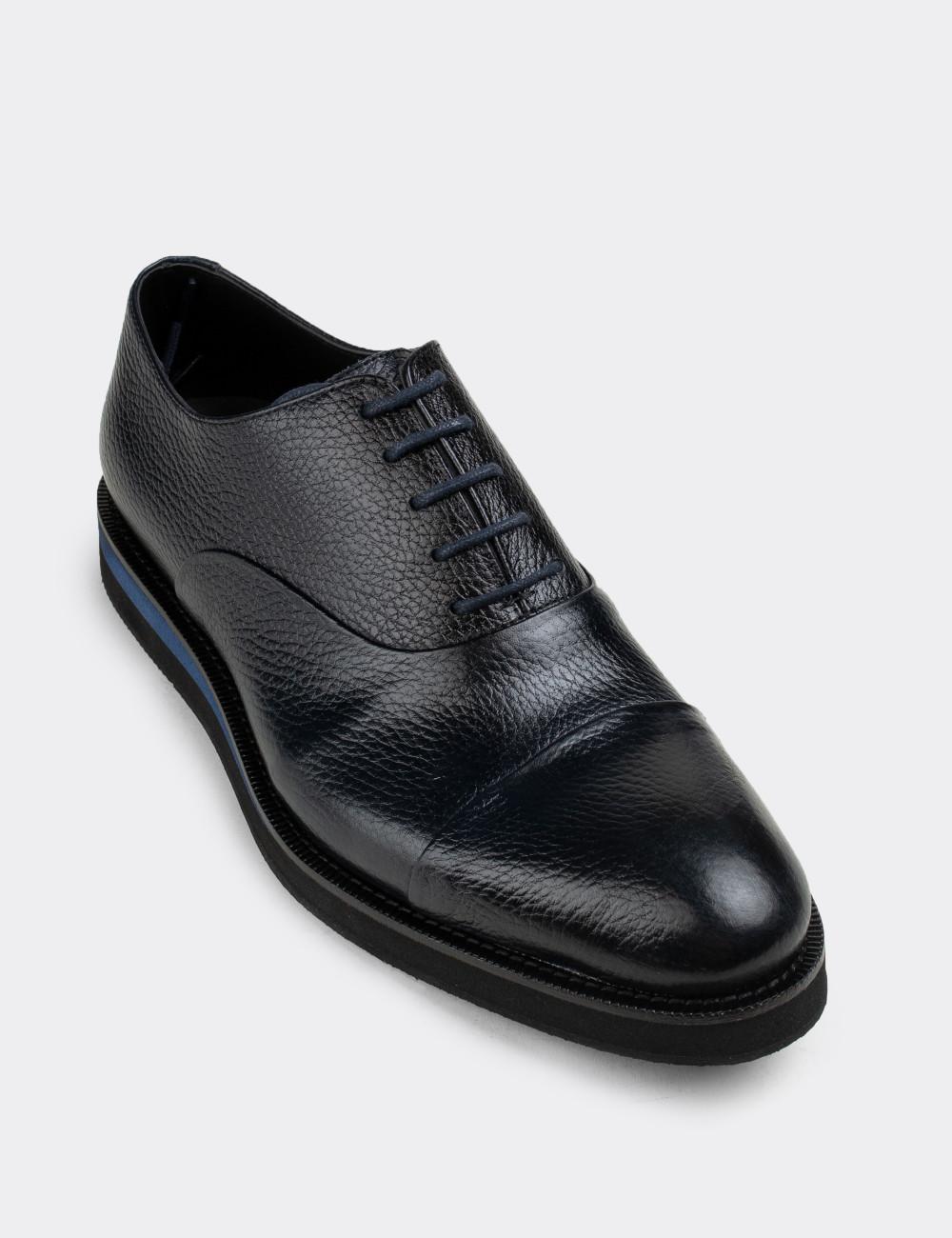 Hakiki Deri Lacivert Günlük Erkek Ayakkabı - 01026MLCVE03