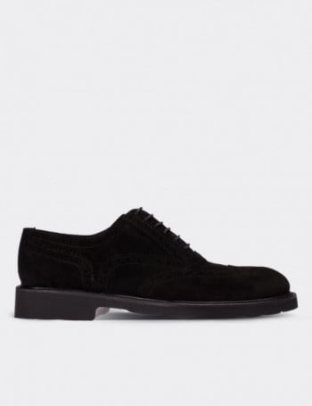 Hakiki Süet Deri Siyah Günlük Erkek Ayakkabı