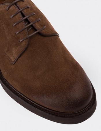 Hakiki Süet Deri Taba Rengi Finisajlı Erkek Ayakkabı