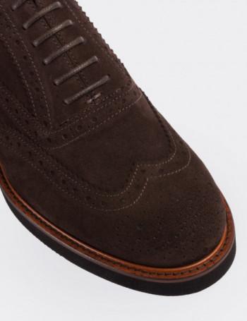 Hakiki Süet Deri Kahverengi Günlük Erkek Ayakkabı