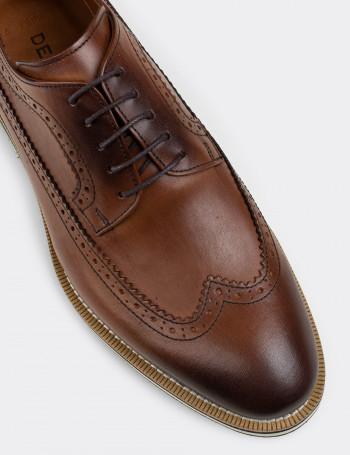 Hakiki Deri Taba Rengi Günlük Erkek Ayakkabı