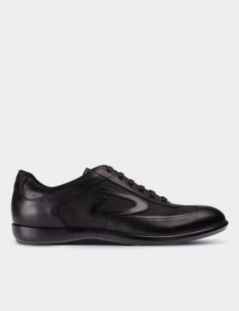 Hakiki Deri Siyah Casual Günlük Erkek Ayakkabı