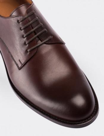 Hakiki Deri Özel Üretim Bordo Finisajlı Klasik Ayakkabı