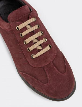 Hakiki Süet Bordo Günlük Erkek Ayakkabı