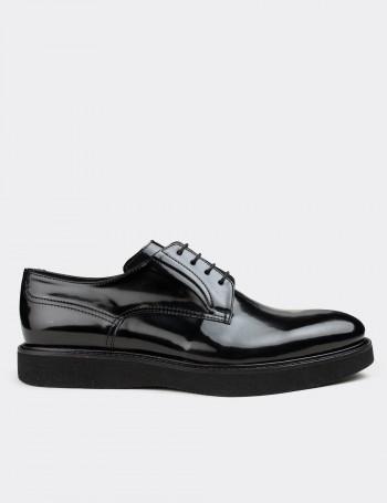Siyah Açma Günlük Erkek Ayakkabı
