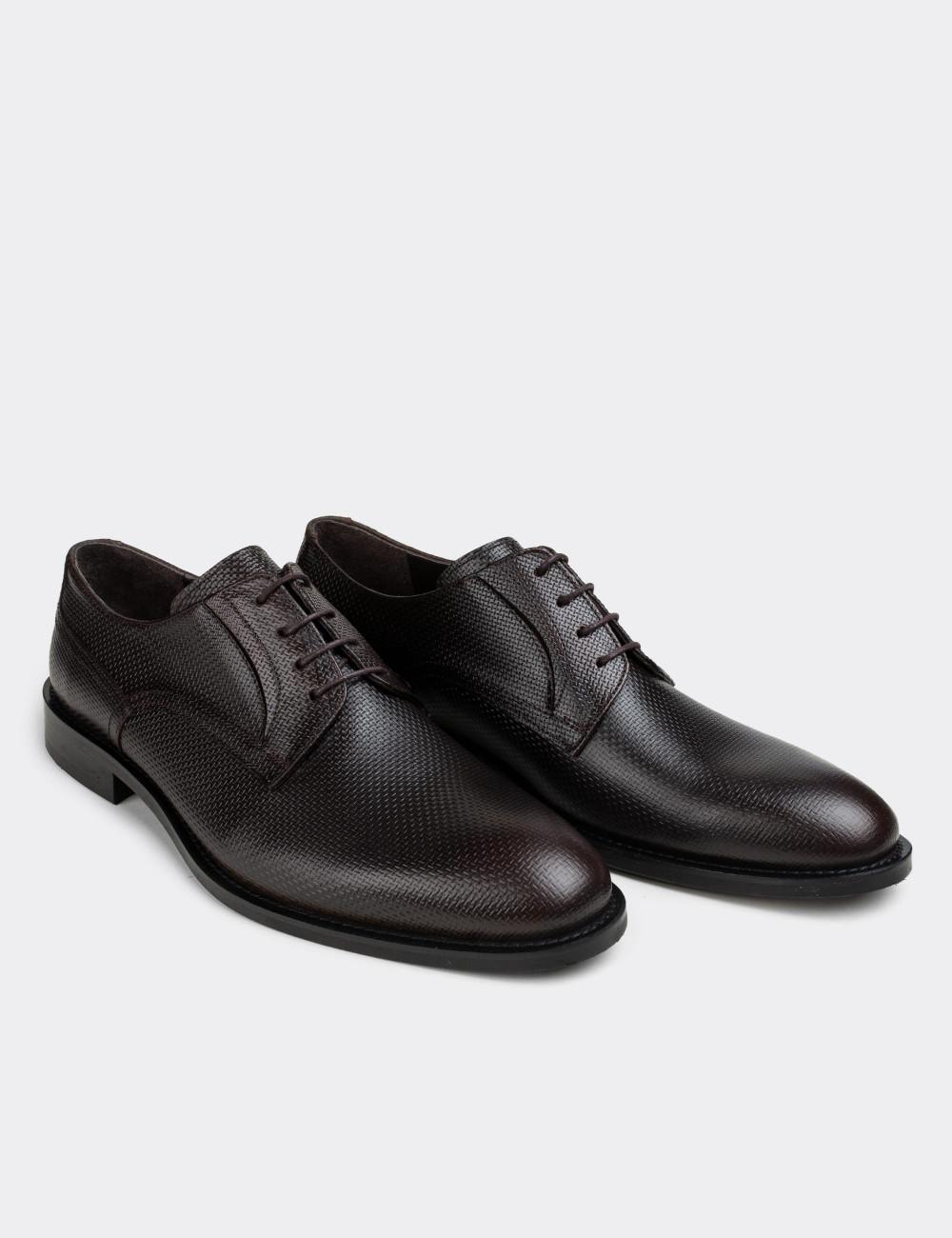 Hakiki Deri Kahverengi Klasik Erkek Ayakkabı - 01294MKHVN02