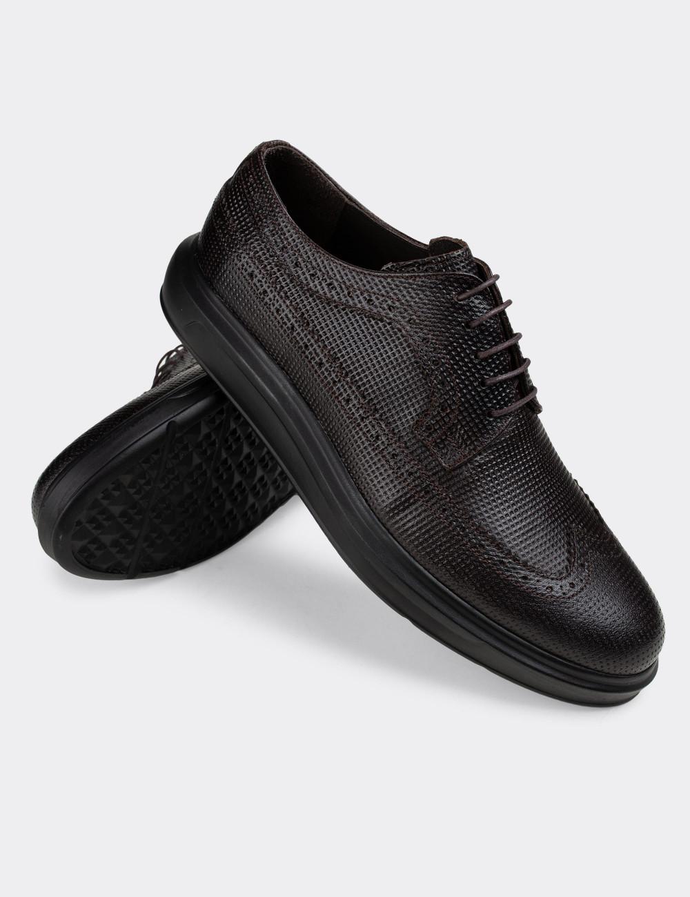 Hakiki Deri Kahverengi Günlük Erkek Ayakkabı - 01293MKHVP02