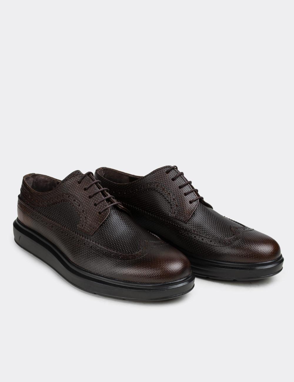 Hakiki Deri Kahverengi Günlük Comfort Erkek Ayakkabı - 01293MKHVP04