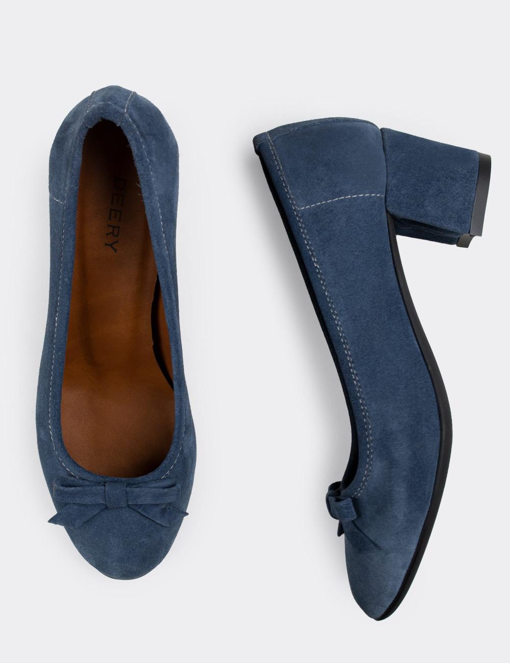 Hakiki Süet Mavi Günlük Kadın Ayakkabı - E1471ZMVIC01
