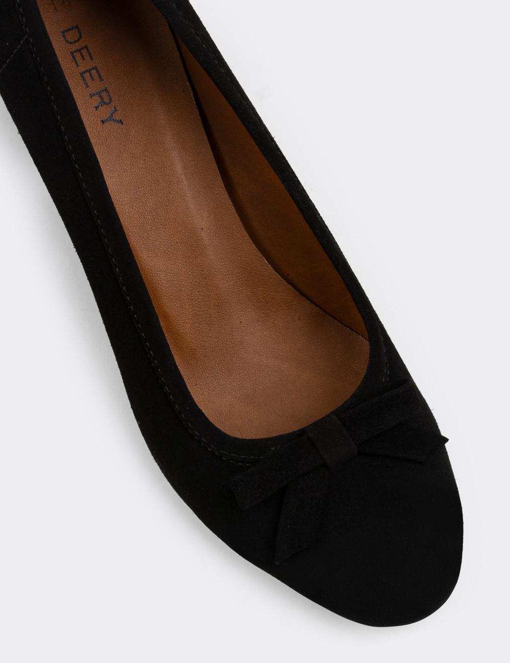 Hakiki Süet Siyah Günlük Kadın Ayakkabı - E1471ZSYHC01