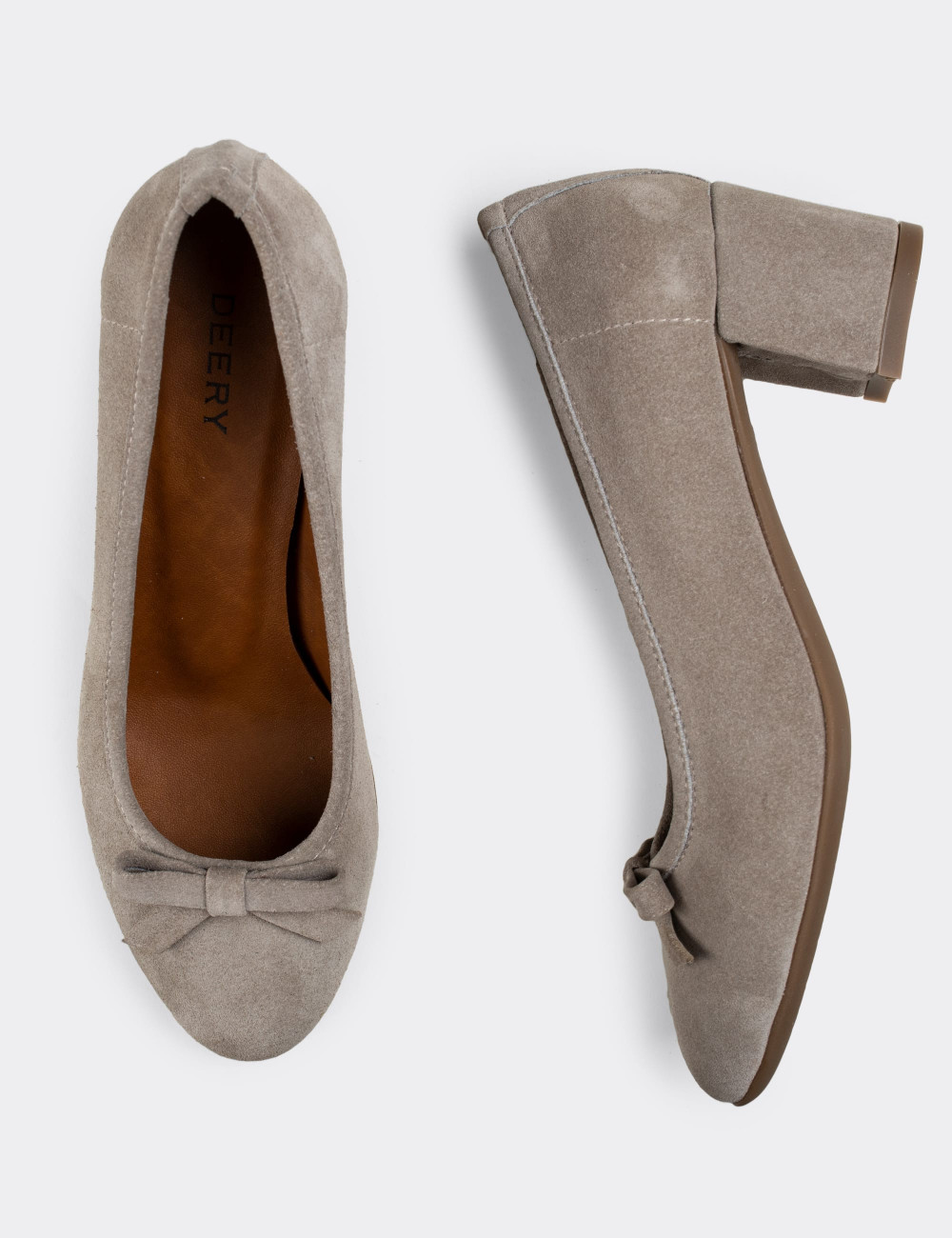 Hakiki Süet Gri Günlük Kadın Ayakkabı - E1471ZGRIC01