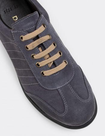 Hakiki Süet Gri Günlük Erkek Ayakkabı