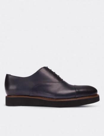 Hakiki Deri Mavi Erkek Ayakkabı