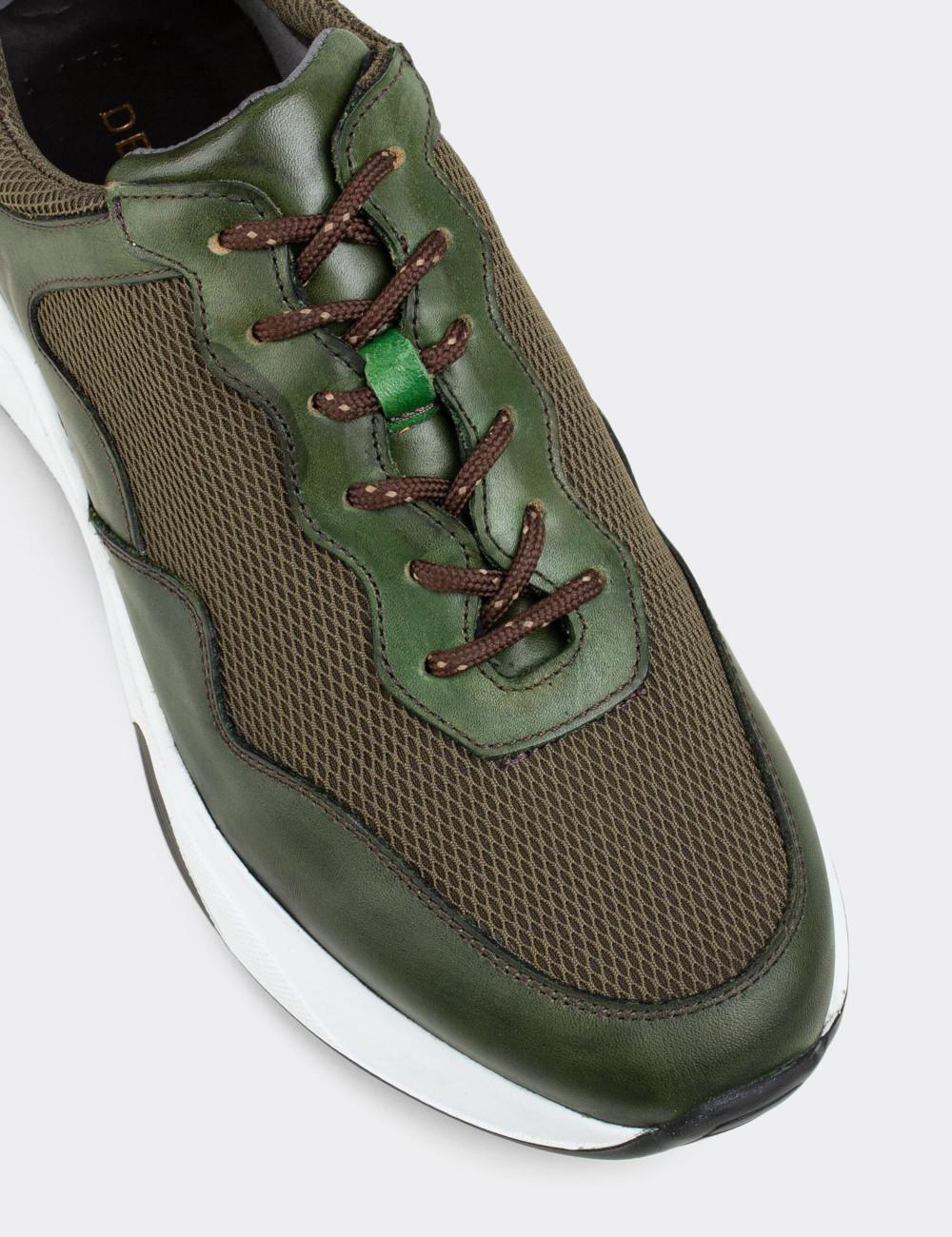Hakiki Süet Yeşil Sneaker Erkek Ayakkabı - 01725MYSLE02