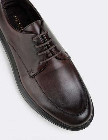 Hakiki Deri Kahverengi Comfort Günlük Erkek Ayakkabı