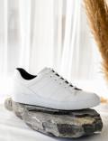 Hakiki Deri Beyaz Sneaker Erkek Ayakkabı