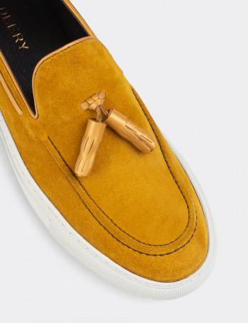 Hakiki Süet Sarı Püsküllü Spor Erkek Loafer