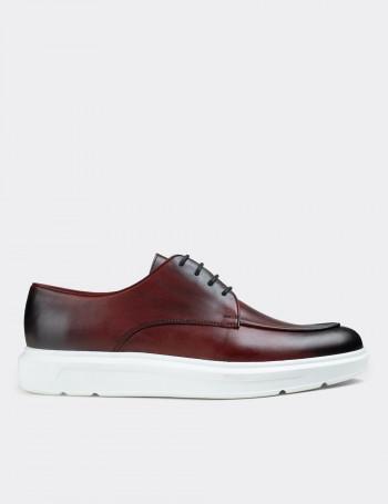 Hakiki Deri Bordo Comfort Günlük Erkek Ayakkabı