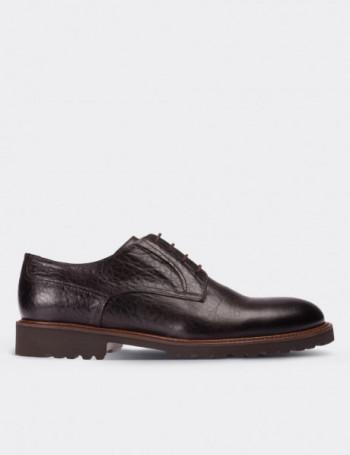 Hakiki Deri Kahverengi Vintage Erkek Ayakkabı