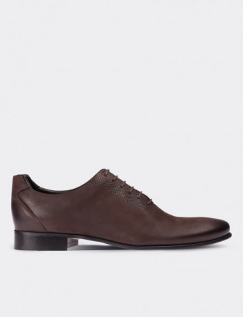 Hakiki Nubuk Kahverengi Klasik Erkek Ayakkabı