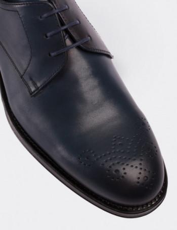 Hakiki Deri Lacivert Erkek Kösele Ayakkabı
