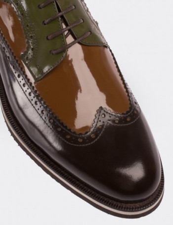 Hakiki Rugan Kahverengi Erkek Ayakkabı