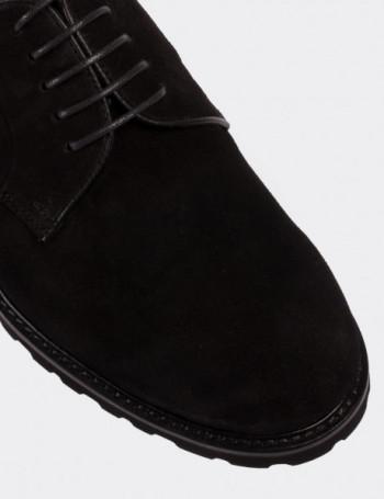 Hakiki Süet Siyah Günlük Erkek Ayakkabı